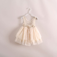 2014 New hot sale summer gauze  girl  dress  have age 2-7 years old