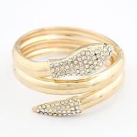 Min. Order $8.8 (Mix Order) Hot Gold Metal Crystal Bracelet Lady Fashion Rhinestone Bracelet FB0012