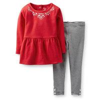 14 New  Original Carters  Baby Girls Tunic & Legging Set ,Girls Spring And Autumn 2 piece Set