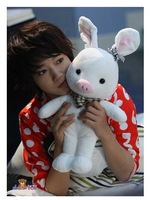 """8"""" pig rabbit doll 20cm pig rabbit   turned out to be a handsome man   pig rabbit plush toy doll doll to give gifts"""
