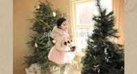 Girls winter sweet print long sleeve dress , dresses flower girls  , 5pcs/lot  LWH25