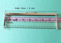 20 cm / 8 Inch Silver Straight Edge Purse Frame - Purse/Clutch Hardware