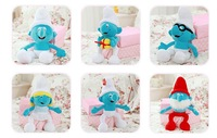 High quality Wholesale 30cm DOLL The elves papa Smurfette Clumsy Plush Toys one set free shipping