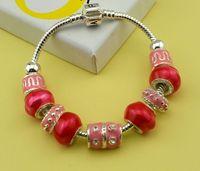 Brand Pink Charm  European Bead Bracelete Woman Charm Bracelets Chamilia The Bracelet Jewery 925 Silver Top Selling Girl Gift