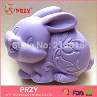 Handmade soap mold  Sell hot Zodiac rabbit modelling silicon soap mold Cake decoration mold No.S382