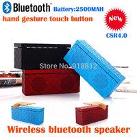 sales new model hand gesture touch button wireless bluetooth speaker,support AUX handsfree phone