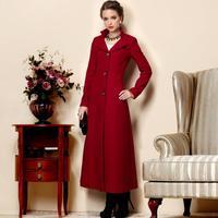 2014 Winter women's wool outerwear wool trench coat women winter plus size expansion bottom long design overcoat