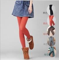 2014 New Velvet Winter leggings for Women casual thick warm skinny woman leggings pants stockings roupas Grey,Black,Brown,Blue