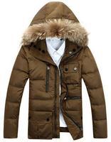 Men's Winter hooded down coat ( 90% white duck down ) Fur Collar Male Down jecket Warm outer size L-XXXL free ship