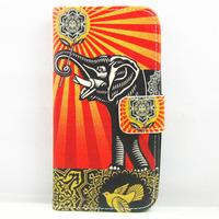 for lg l90 case,new cartoon elephant flower sunshine Leather Flip Stand CASE Wallet Housing FOR LG Optimus L90