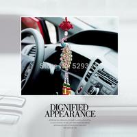 Luxury car ornaments peacock pendant inlaid diamond pendant creative interior Peacock car accessories