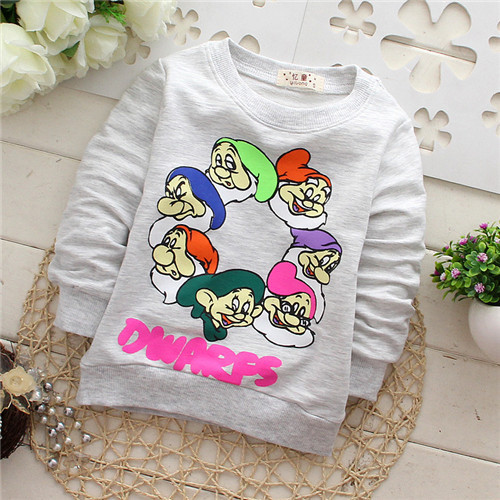 baby Snow white and the Seven Dwarfs unisex infant hoodies baby boys baby girls clothes sweatershirts KT267R(China (Mainland))