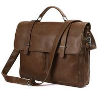 Men's Genuine leather briefcase  handbagd one shoulder bags messenger bags laptop bags