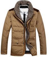 Big stand collar Men's down jacket Winter down coat warm Outwear size M-XXXL free shipping