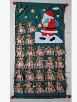 Free shipping Christmas Countdown Calendar dimensional pouch Winnie the elderly Snowman
