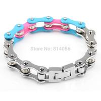 Cycling Bracelet  Punk fashion personality titanium steel bracelet  width double refined retro Bracelets Birthday gift