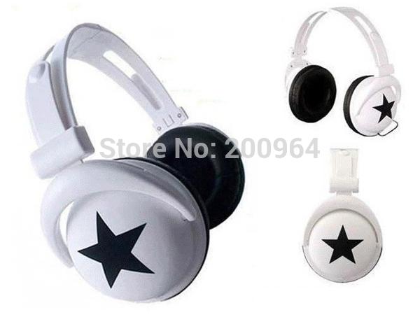 Fashion MixStyle big stars skeleton headset/MP3 phone computer headset headset(China (Mainland))
