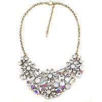 2014 New disign JC pendant women necklace & pendant costume choker collar bib statement crystal  Necklace for women