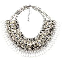 New Z fashion collar choker beads tassel Bohemia necklace & pendant chunky luxury choker statement necklace 2014 women