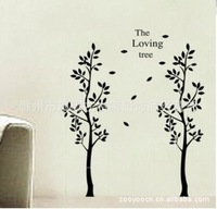 The new 9003 black love two trees tree wall stickers export foreign trade wall stickers manufacturers