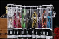 50pcs Stereo Bass Zipper Earphone AA In Ear Metal Zipper Headphones With MIC 3.5mm amazing sound earphone With retail box