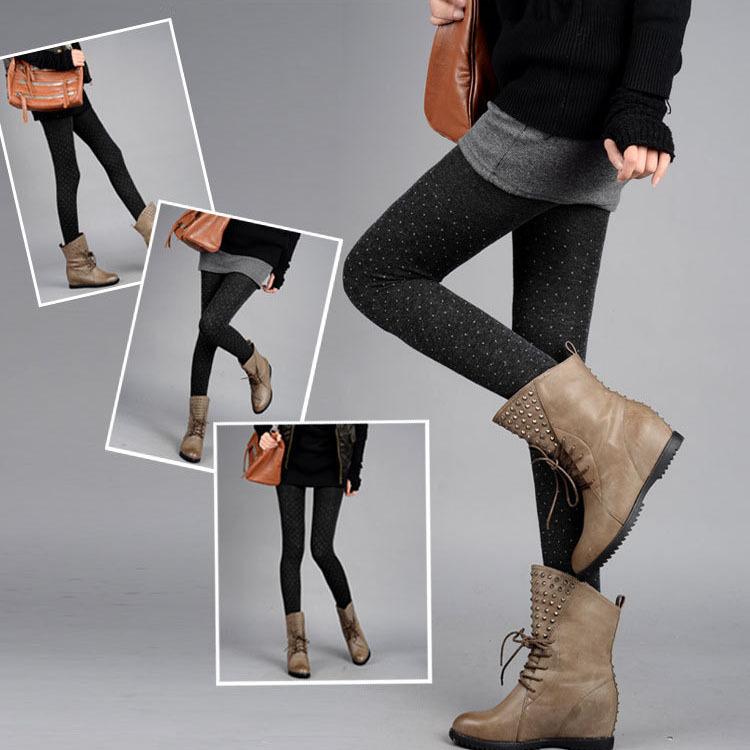 2014 nova moda floco de neve senhora padrão pisou coréia alpaca leggings quente especiais(China (Mainland))