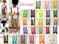 Children's Suspenders 10PCs New Mens Womens Unisex Clip-on Suspenders Elastic Y-Shape Adjustable Braces Colorful 26 colors