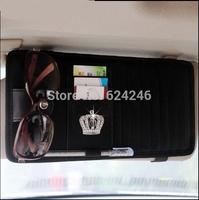 car organizer JP DAD crystal diamond crown leather multi-function car CD folder sun visor sunglasses frames free shipping