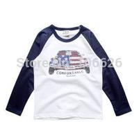 #M70 children spring autumn clothing kids garment 2T-8T boys/girls cotton o-neck long sleeve stripes t-shirts