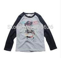 #M4578 children spring autumn clothing kids garment 2T-8T boys/girls cotton o-neck long sleeve stripes t-shirts