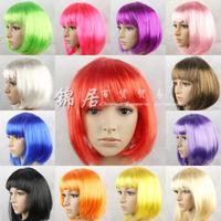 14 colors Christmas masquerade supplies color bobo head bob wig