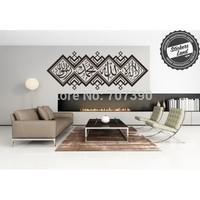 Custom Made Muslim words Home decor wall stickers decals Art Vinyl Murals islamic No181 105*275cm