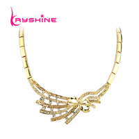 Steampunk Style Gold Color Statement Collar Necklace New 2014 Fashion Jewelry