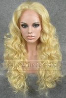 Fashion Long Blonde 613 Color Hair Wig wavy Synthetic Lace Front Wig High Quality Women Hair Party Cosplay Wigs Z08