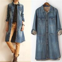 Jeans Jackets Women Big Brand Plus Size XL Denim jacket Casacos Femininos Desigual Women Coat Slim Classical Casual Outwear