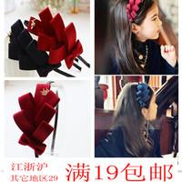 Korean children hair accessories Korean chiffon dot bow hair bands issuing genuine parent-child models girls headband