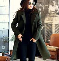 Plus Size S-XXXL Winter Coat Women High Quality Trench Coat Casual Casacos Femininos Cardigans Overcoat Long Slim 3 Colors