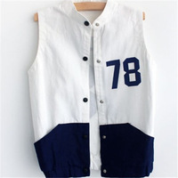 Women Coat Vest 2014 High Quality Demin Vest Colete Feminino Waistcoat Casual All-Match Letter 78 Loose Jeans Vests Plus Size