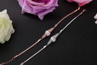 2014 New Wholesale Elegant 18K Rose Gold Plated Imitation Opal Female  Bracelet Jewelry Free Shipping