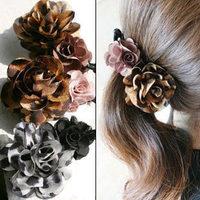 South Korean imports of leopard spots dimensional flowers ladies temperament vertical clip banana clip hair accessories hairpin
