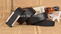 Free shipping! European and American fashion belt. Leisure wild classic men's belt. Smooth belt buckle Men Black / white / brown