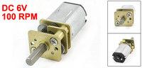 100RPM DC 6V 2 Terminal Gear Electric Speed Reduce Micro Motor