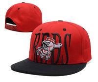Free shipping 2014 fashion Cincinnati Reds baseball cap flat -brimmed  sport hat for men and women