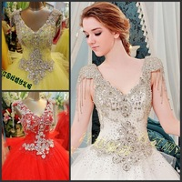new princess wedding dress 2014 Korean Bra straps trailing wedding bride vestido de novia vestido de noiva a025