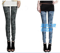 New 2014 New Arrive Jeans Look Pocket Pants Fashion Leggings For Women