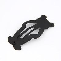 Mix styles Japan fashion cartoon matt black paint cute alloy baby hair clips for women, BB hairpin edge clamp