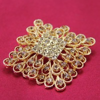 free shipping Antique Style Female Ladies Girls Vintage Brass Plated brown Rhinestones Crystals Brooches Pin, item no.: BH7716