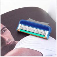 8pcs Flexible Comfort Guard 5 Blade System Sharpener shaving shaver Portable Razor Blades for Men  face care to blade to shave