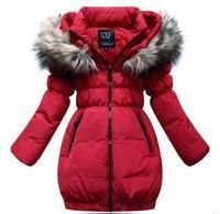 Princess girls children down jacket in winter coat long thickening fashion girls winter coat  free shipping