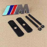 3D chrome Metal Sticker Car Grille turning logo /// M badge emblem for BMW M carro accessories